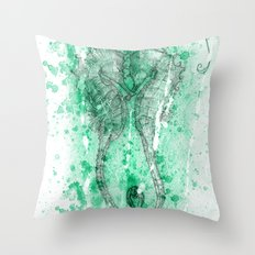The Seahorses - Frozen in time Throw Pillow