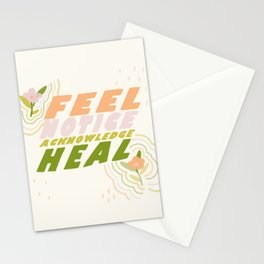 Feel, Notice, Acknowledge, Heal. Stationery Cards