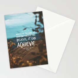 Whatever the mind of man can conceive and believe, it can achieve. Stationery Cards