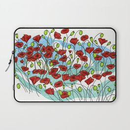 Field Poppies Laptop Sleeve