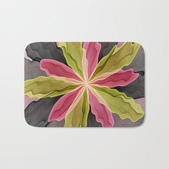 No Sadness, Joy, Fantasy Flower Bath Mat