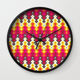 Hippie Colors Wall Clock