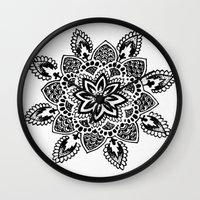 zentangle Wall Clocks featuring Zentangle by Cady Bogart