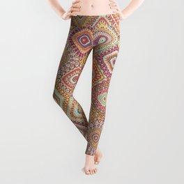Granny's Millefiori Quilt-Spring Colors Leggings