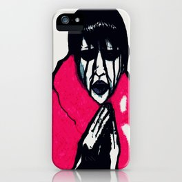 """Fluffy Manson"" in Color iPhone Case"