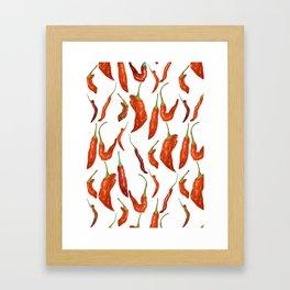 red chili pepper Framed Art Print