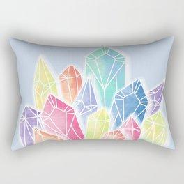 Crystals Blue Rectangular Pillow