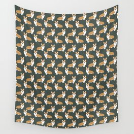 Corgi pattern cute gift for dog owner welsh corgi must haves dog breeds pet portraits pet friendly  Wall Tapestry