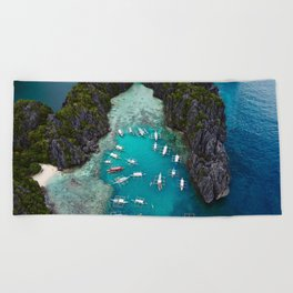 Island hopping in the Philippines Beach Towel