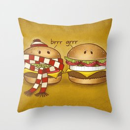 Fast Food Phonics Throw Pillow