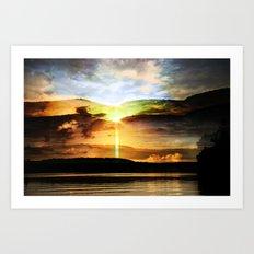 the eternal glory of rising sun Art Print