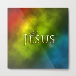 Follow Jesus (green) - Bible Lock Screens Metal Print