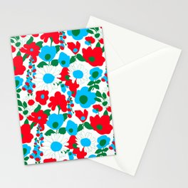 Mod Garden in White Stationery Cards