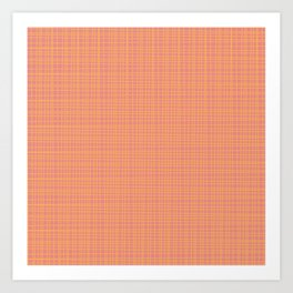Fine Weave Retro Modern Mid-Century Pattern in Mustard Yellow and Blush Pink Art Print