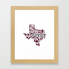 Texas A&M Landmark State - Maroon and Gray Texas A&M Theme Framed Art Print