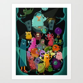 The mezcal monsters Art Print