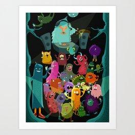 The mezcal monsters Art Print