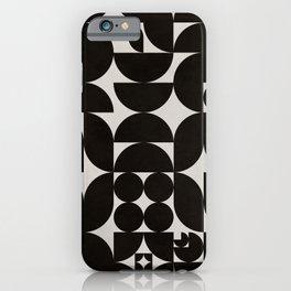 Black & White Mid Century Modern Pattern iPhone Case