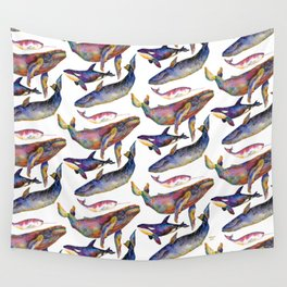 Whale Pyramid #2 Wall Tapestry