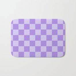 Lavender Check Bath Mat