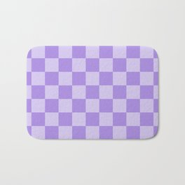 Lavender Check Bath Mat