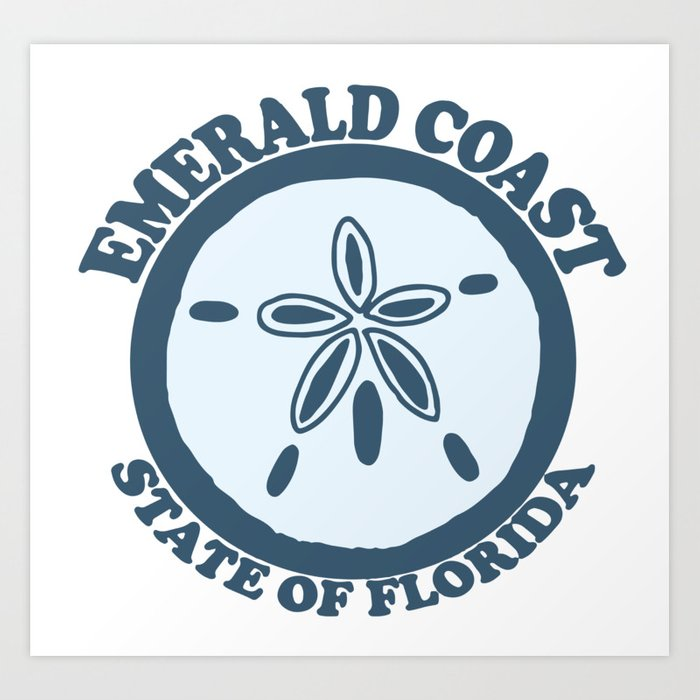 Emerald Coast - Florida. Art Print