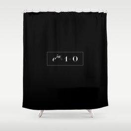 Euler's identity Shower Curtain
