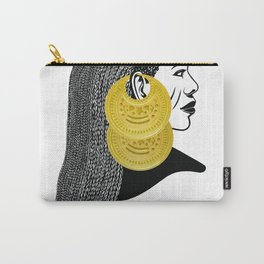 Girl with القمر بوبا earrings Carry-All Pouch