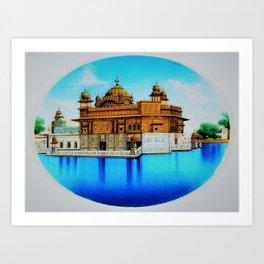 Classical Masterpiece 1825 Sri Harimandir Sahib - Golden Temple, Amritsar, India - Artist Unknown Art Print