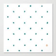 Dots Ahoy Canvas Print