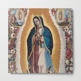Virgin of Guadalupe, 1720 by Antonio de Torres - Mexican Art Metal Print