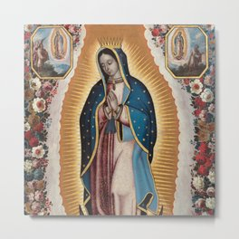 Virgin of Guadalupe, 1720 by Antonio de Torres - Mexican Art Metal Print