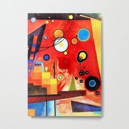 Wassily Kandinsky - Heavy Red - Abstract Art Metal Print