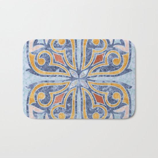 Blue Oriental Tile 04 Bath Mat