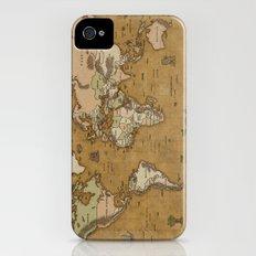 World Treasure Map Slim Case iPhone (4, 4s)