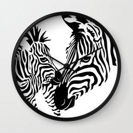Love Stripes Wall Clock