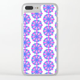 Snowflakes of Pink and Periwinkle Clear iPhone Case