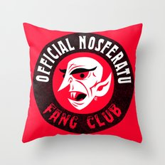 Nosferatu Fang Club Throw Pillow