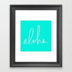 Aloha Tropical Turquoise Framed Art Print