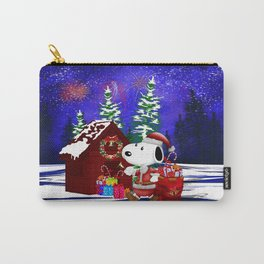 Santa Claus at the Dog World iPhone 4 4s 5 5c 6, pillow case, mugs and tshirt Carry-All Pouch