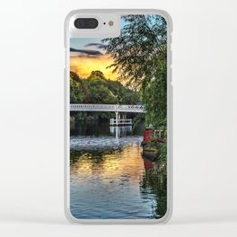 Above The Toll Bridge At Pangbourne Clear iPhone Case