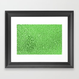 Water Condensation 05 Green Framed Art Print
