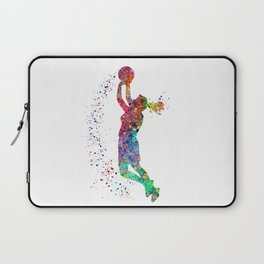 Basketball Girl Player Sports Art Print Laptop Sleeve