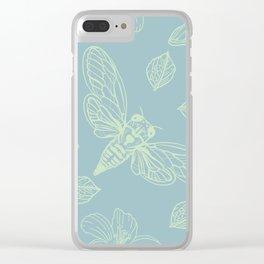 Cicada Moth Pattern Clear iPhone Case