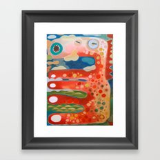The Great Red Dragon from Mississippi river Framed Art Print