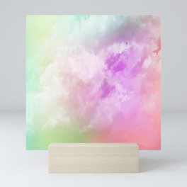 Rainbow nubes Mini Art Print