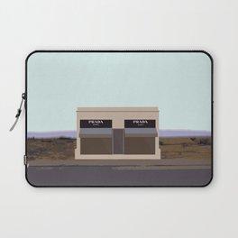 Marfa Installation: A digital illustration Laptop Sleeve