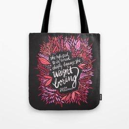 Zelda Fitzgerald – Pink on Charcoal Tote Bag