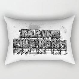 Farine Five Roses in B&W Rectangular Pillow