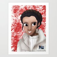 princess leia Art Prints featuring Leia by BellaG